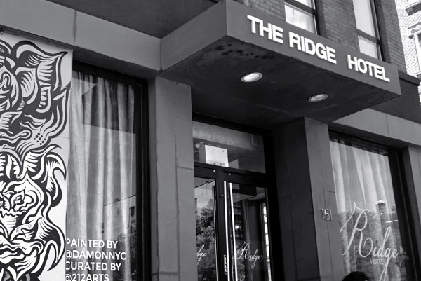 Front entrance of the ridge hotel